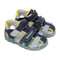 Hokide® Sandale piele Albastru Galben
