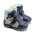Wojtylko® Ghete piele eco imblanite gri-bleu 200882