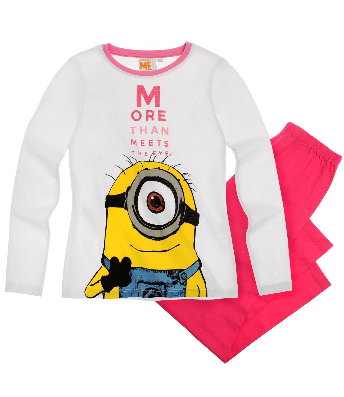 Minions® Pijama (6-12 ani) Alb