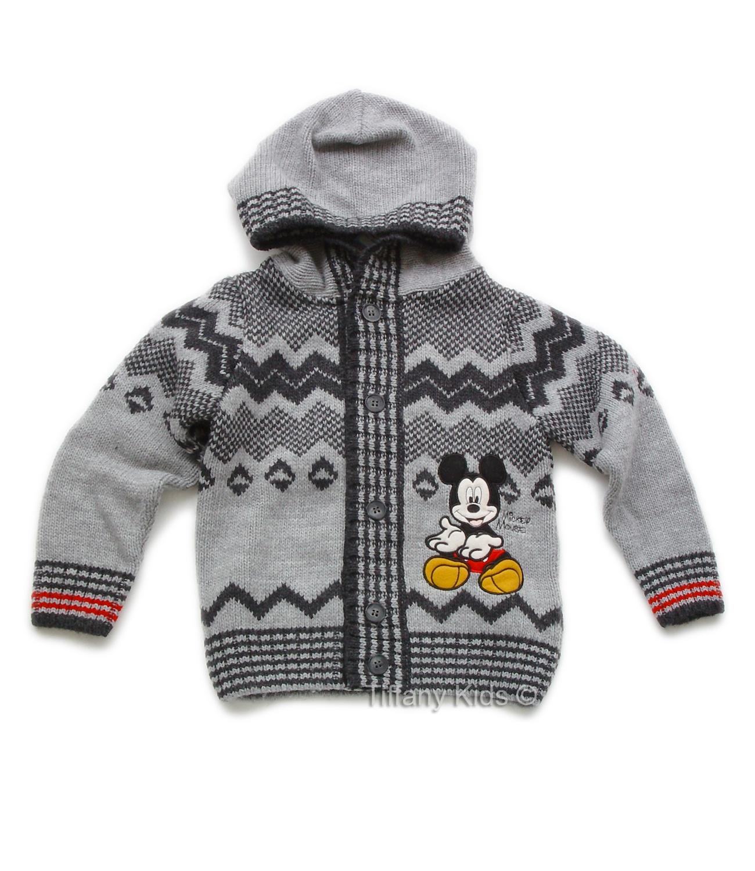 Mickey® Cardigan (3-7 ani) Gri