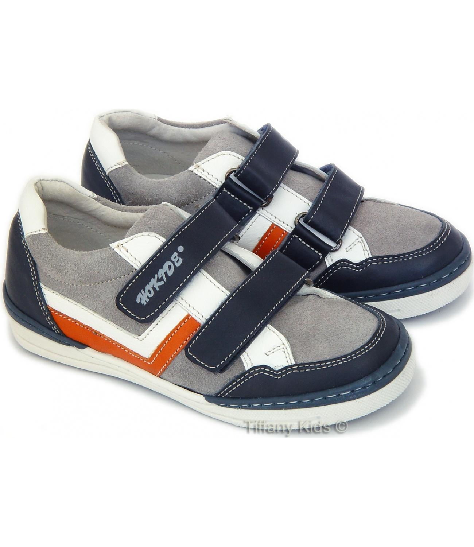Hokide® Pantofi sport piele Gri oranj