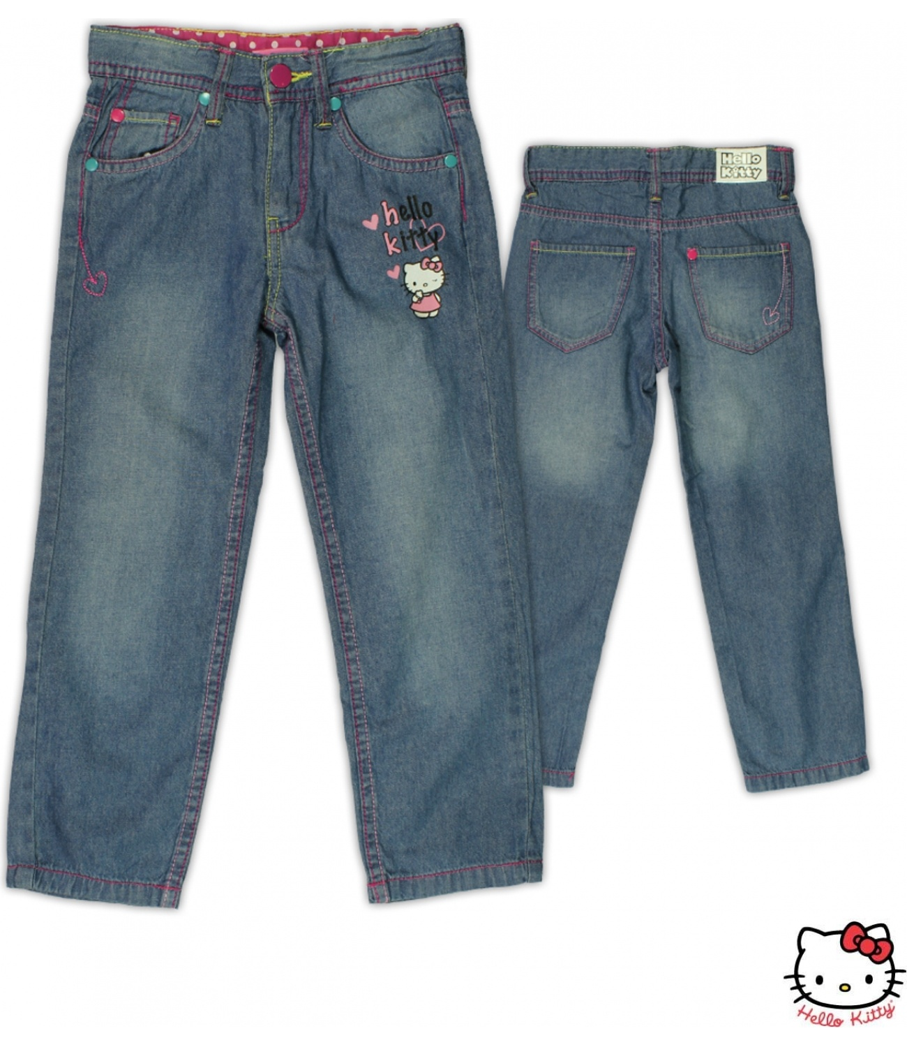 Hello Kitty© Blugi (104-128) Denim