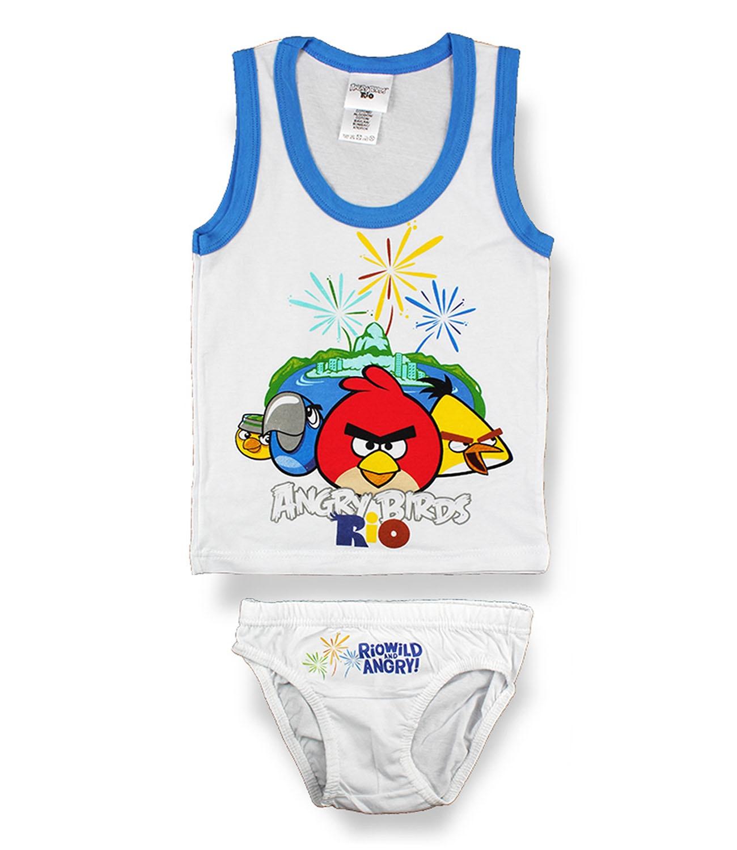 Angry Birds® Set lenjerie Alb