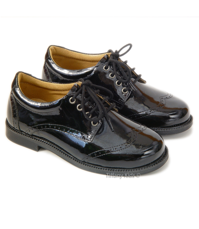 Leofex Pantofi piele lac Negru