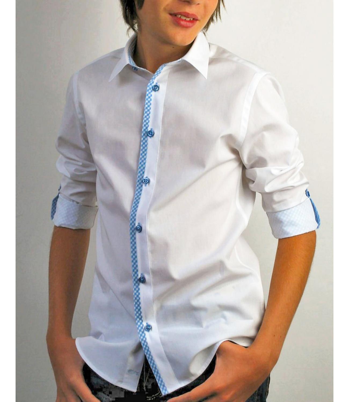 Camasa Trouble Boy (7-14 ani) Alb