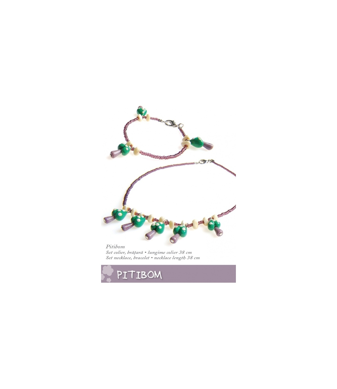 Set Murano Pitibom Mov-verde 1