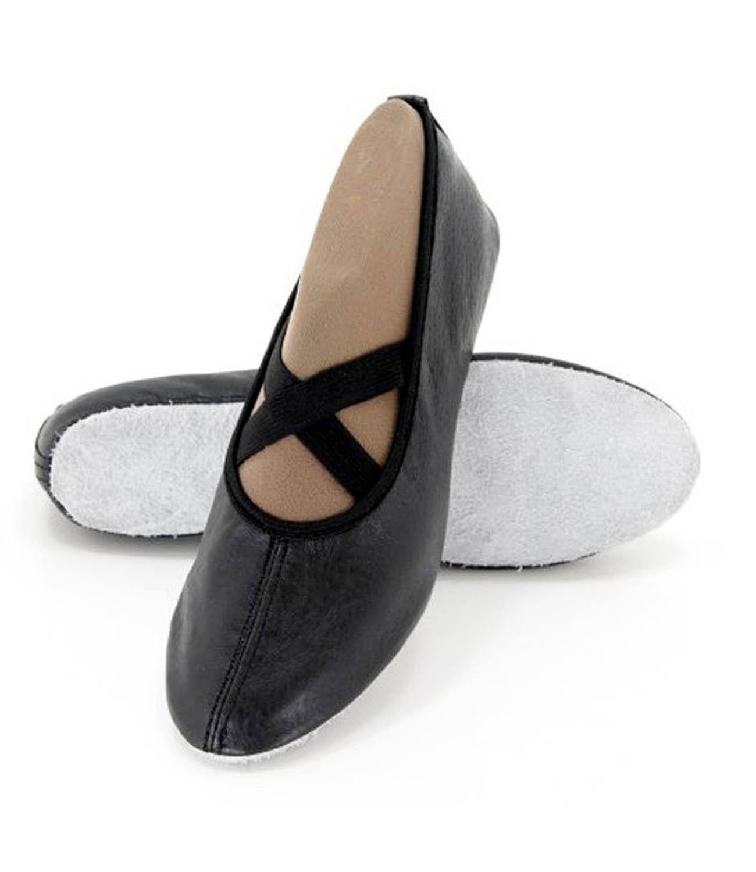 Balerini-flexibili piele naturala gim & dans Negru