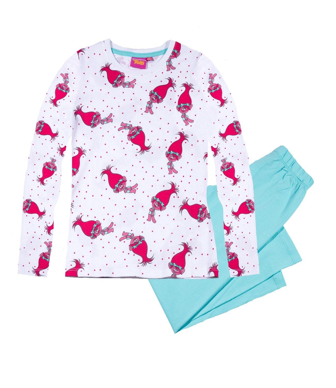 Trolls® Pijama (4-12 ani) Alb