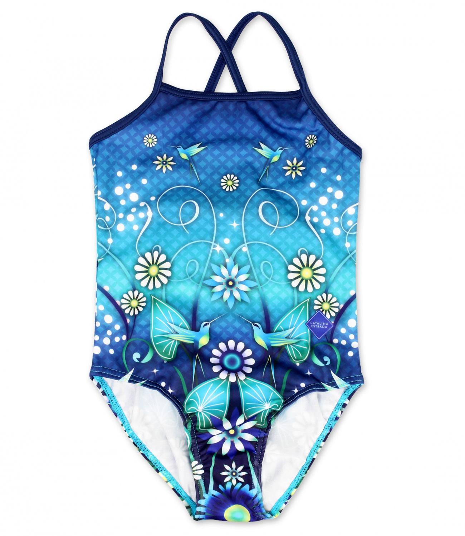 Catalina Estrada® Costum de baie intreg Albastru 910572