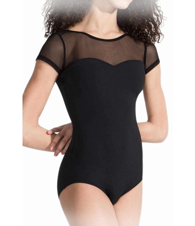 Body gimnastica & dans Negru Spandex 1102