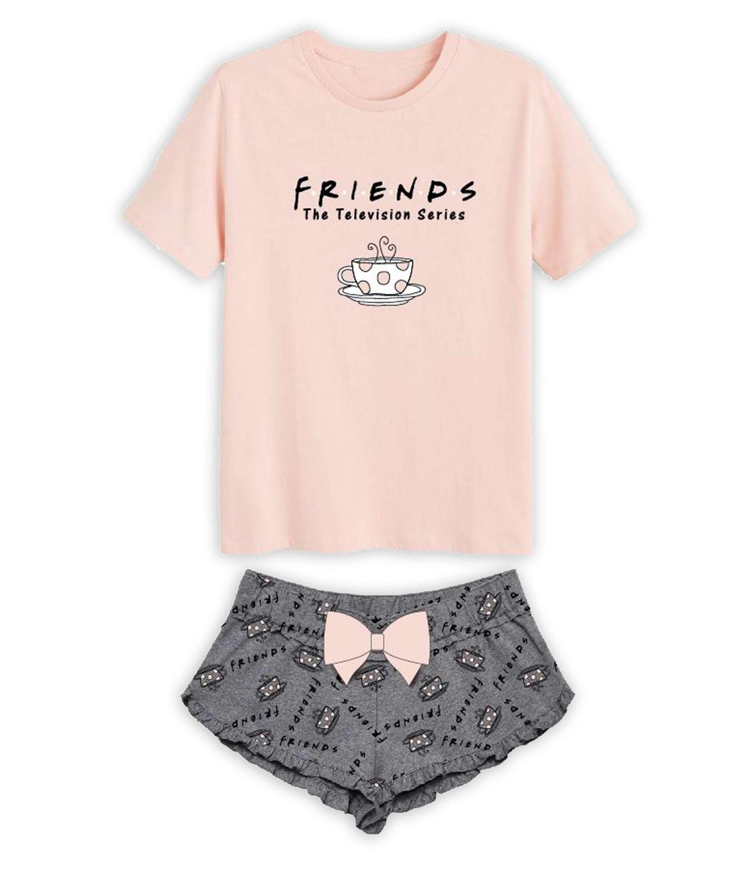 Friends® Pijama vara roz 902094