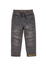 Pantaloni Denim, dublati Gri