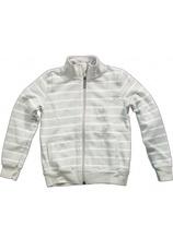 Bluza fermoar 116 -176 Dungi alb-gri