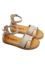 Sandale piele eco Gio 72 Bej Auriu