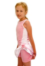 Tiffany Kids® Set Tenis Fusta cu maieu Alb-roz 55100