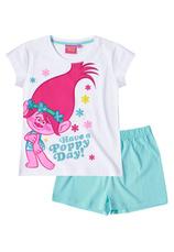 Trolls® Pijama Maneca scurta (6-12 ani) Alb mix