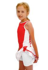 Tiffany K® Set Tenis Fusta cu maieu Alb-Rosu 55500