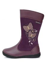 D.D.Step® Cizme piele imblanite Violet 303663