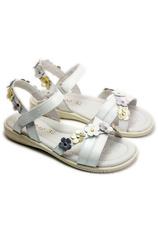 D.D.Step® Sandale piele Alb sidef