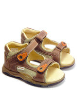 Sunway® Sandale piele Maro-Oranj