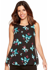 Raspberry®  Butterfly Print Split Back Top