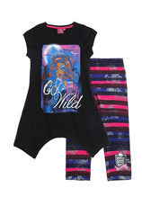 Monster High® Compleu leggins Negru
