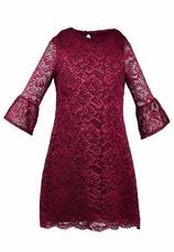 Al-Da® Rochie eleganta Harriet Bordo 101865