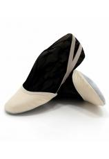 Balerini-varfuri piele naturala gimnastica ritmica Natural