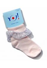 Yo Club® Sosete roz dantela 27801