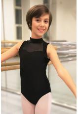 Body gimnastica & dans Negru Spandex 1104