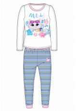 44 Cats® Pijama fete alb bleu 860992