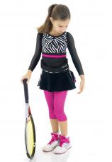 Set Tenis Fusta cu colanti si bluza Zebra III 55700