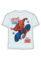 Spider-Man® Tricou alb dungi bleu 894584