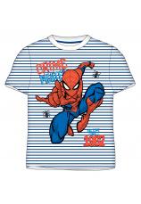 Spider-Man® Tricou alb dungi bleumarin 894585