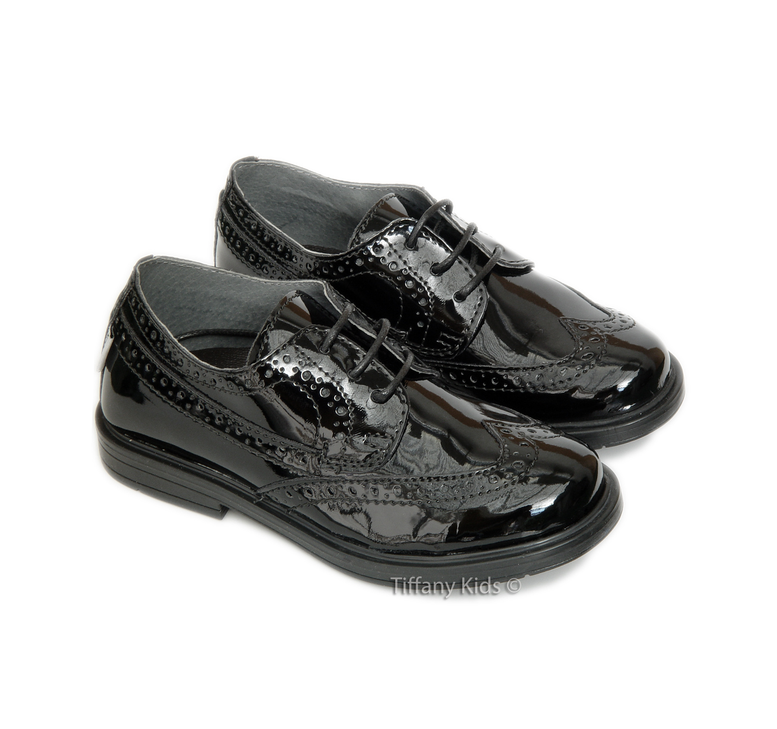 Melania® Pantofi lac Negru