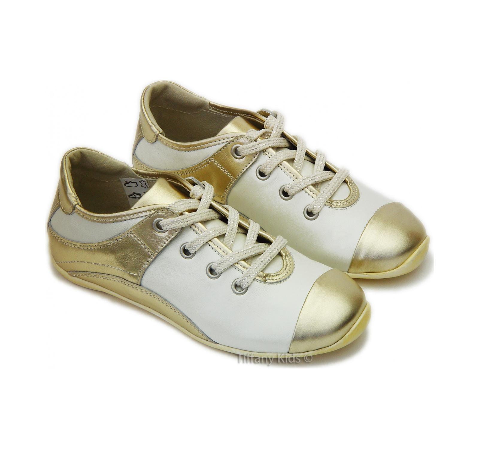 PJ® Pantofi sport piele Marika Auriu