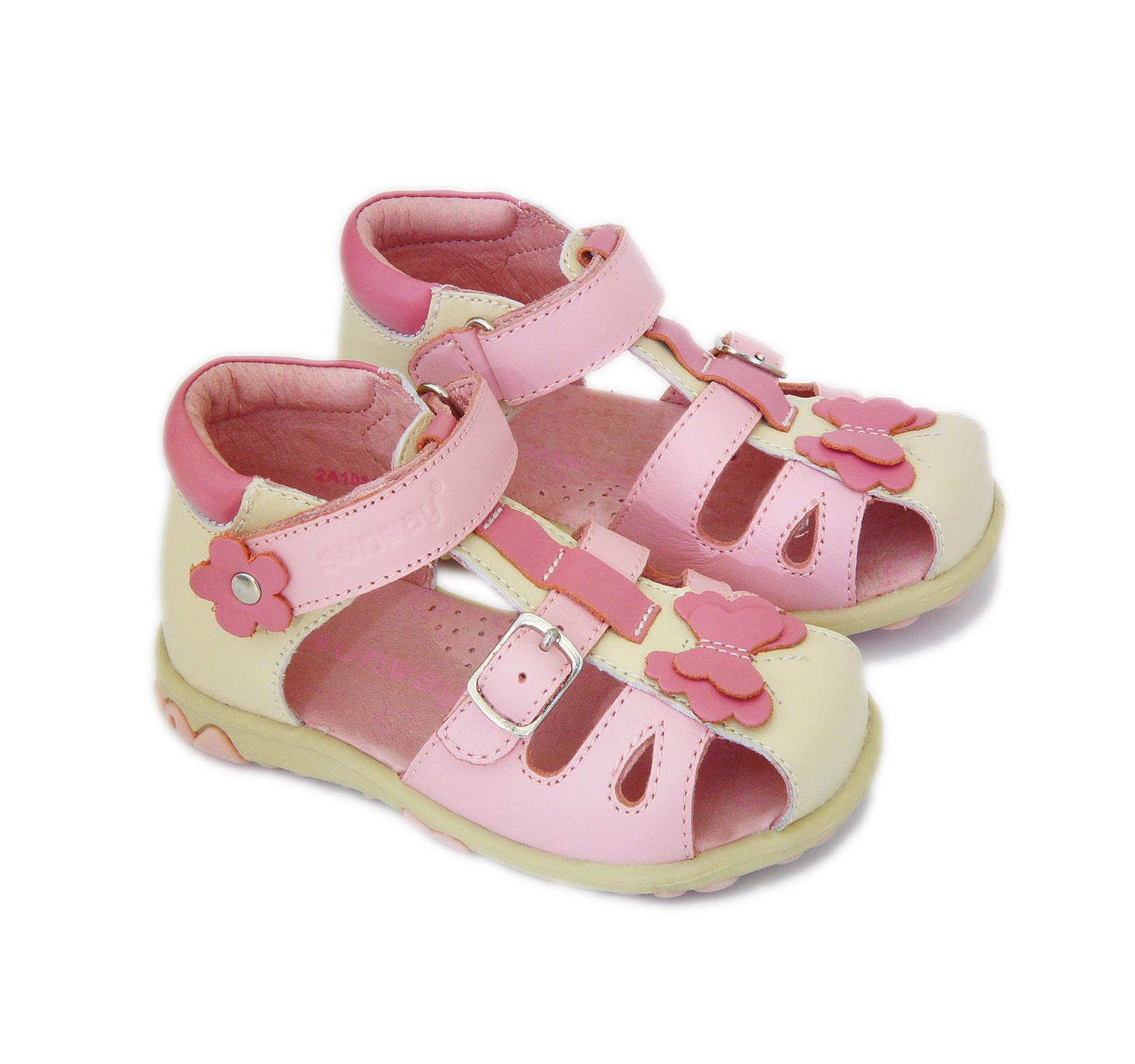 Sunway® Sandale piele Roz-bej