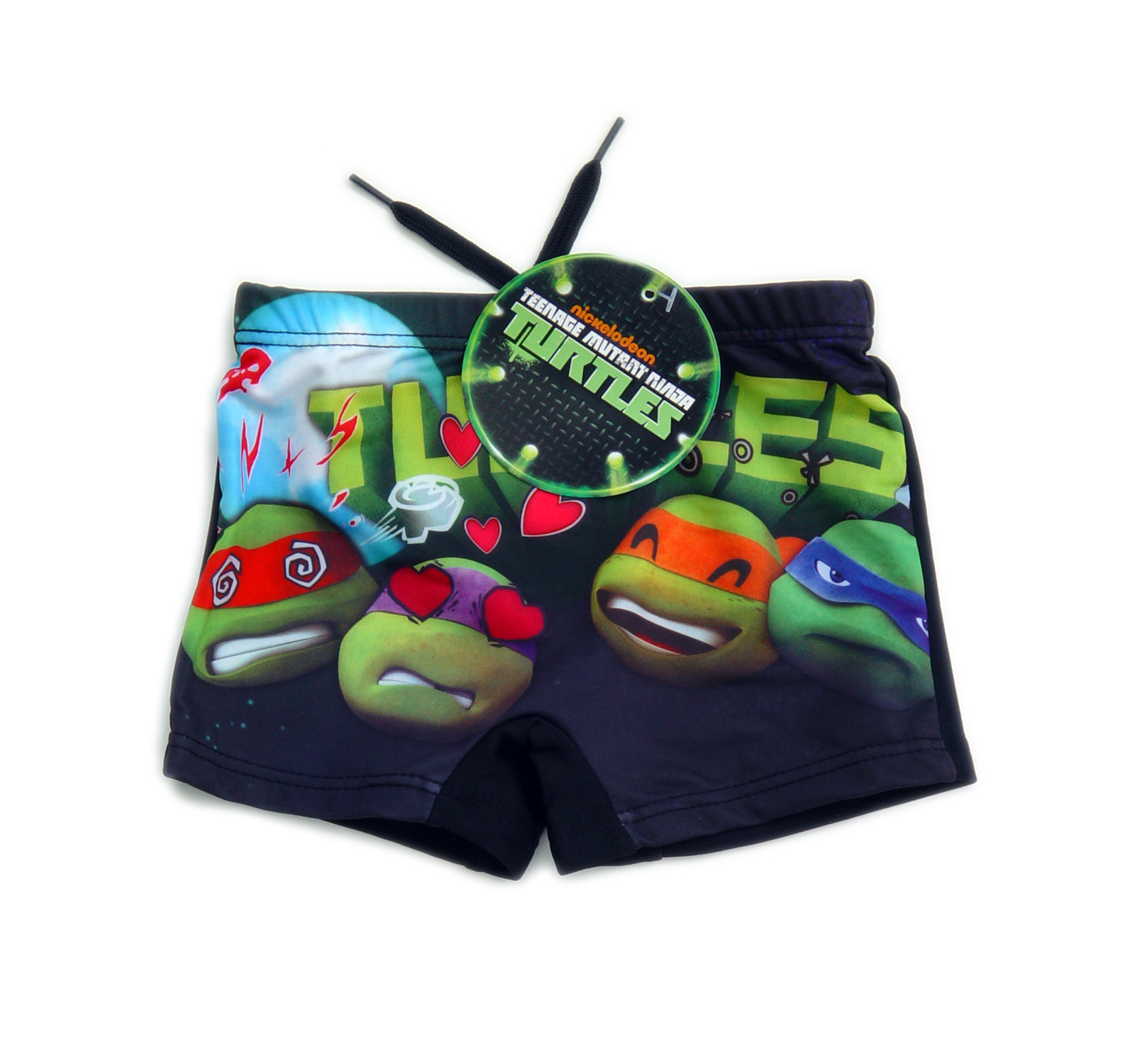 Ninja Turtles™ Boxer (98-128) Negru
