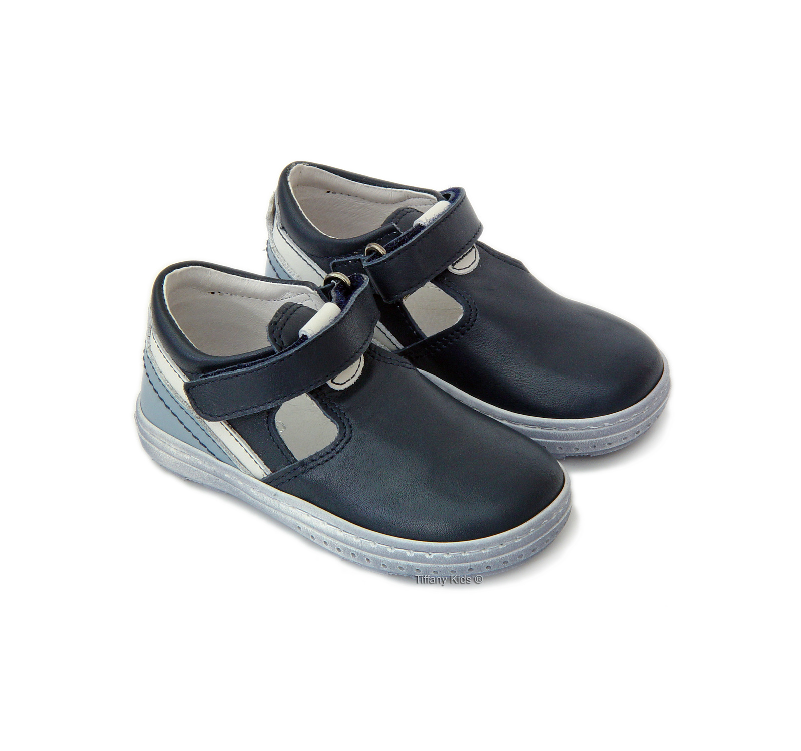 Avus® Pantofi piele Bleu mix