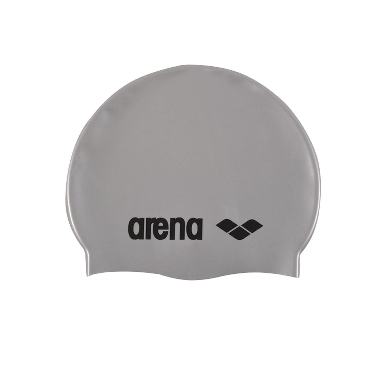 Arena® Clasic Silicon jr. casca (5-10 ani)  Argintiu