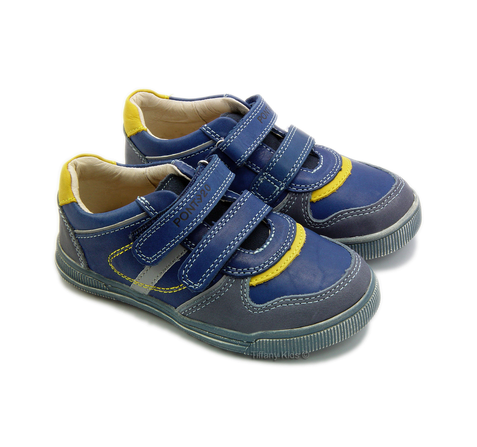 Ponte 20® Pantofi sport piele Albastru 6120