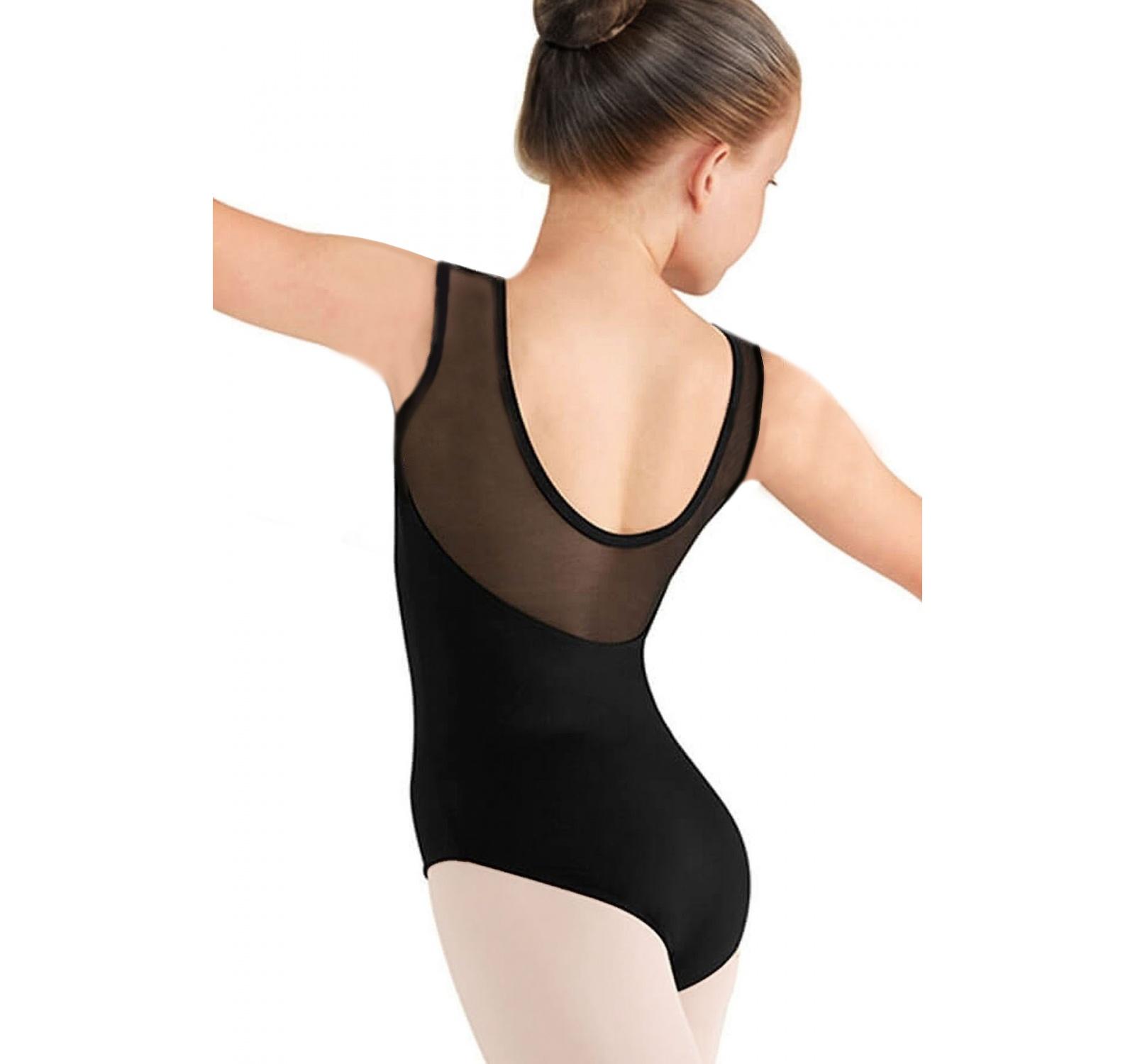 Body gimnastica & dans Negru Spandex 1109