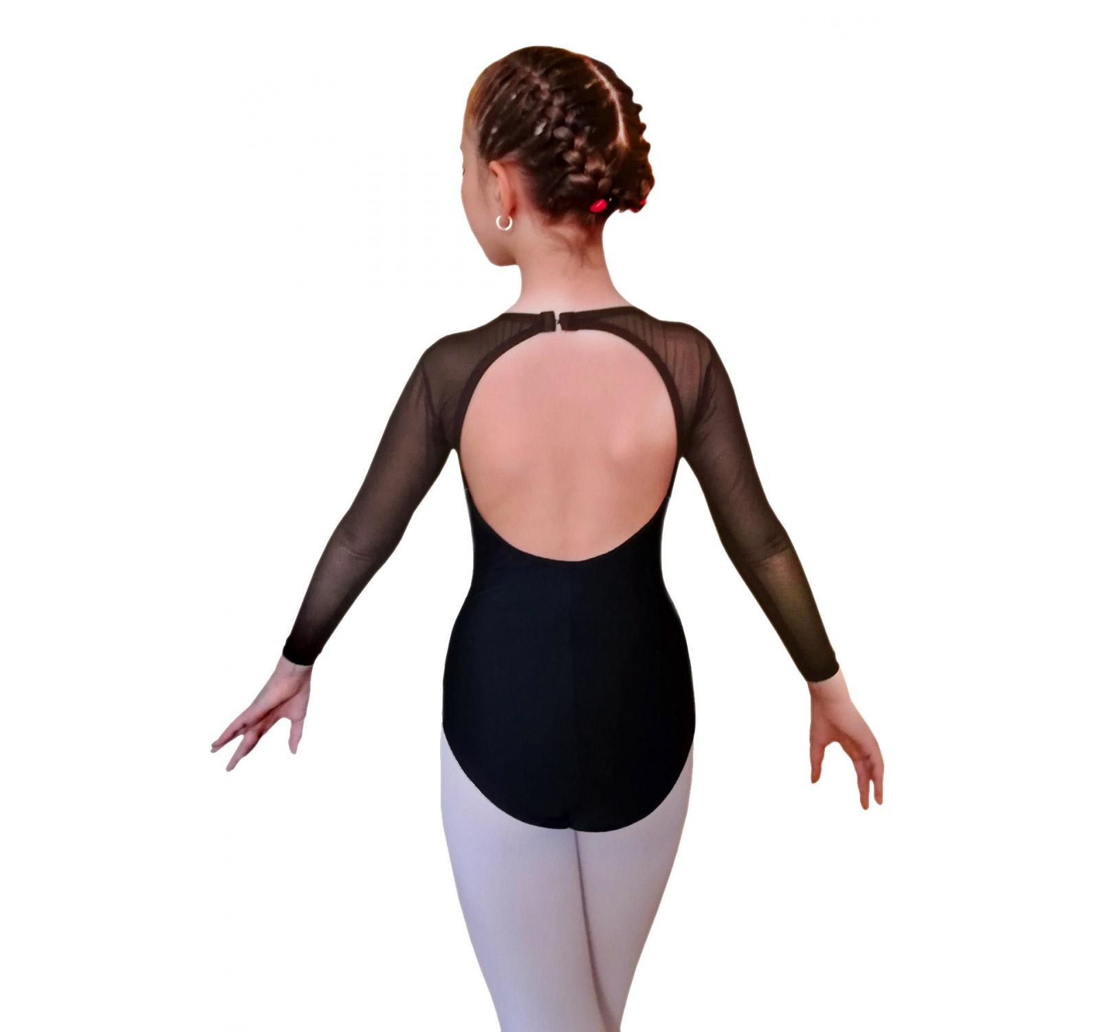 Body gimnastica & dans Negru Spandex 1609