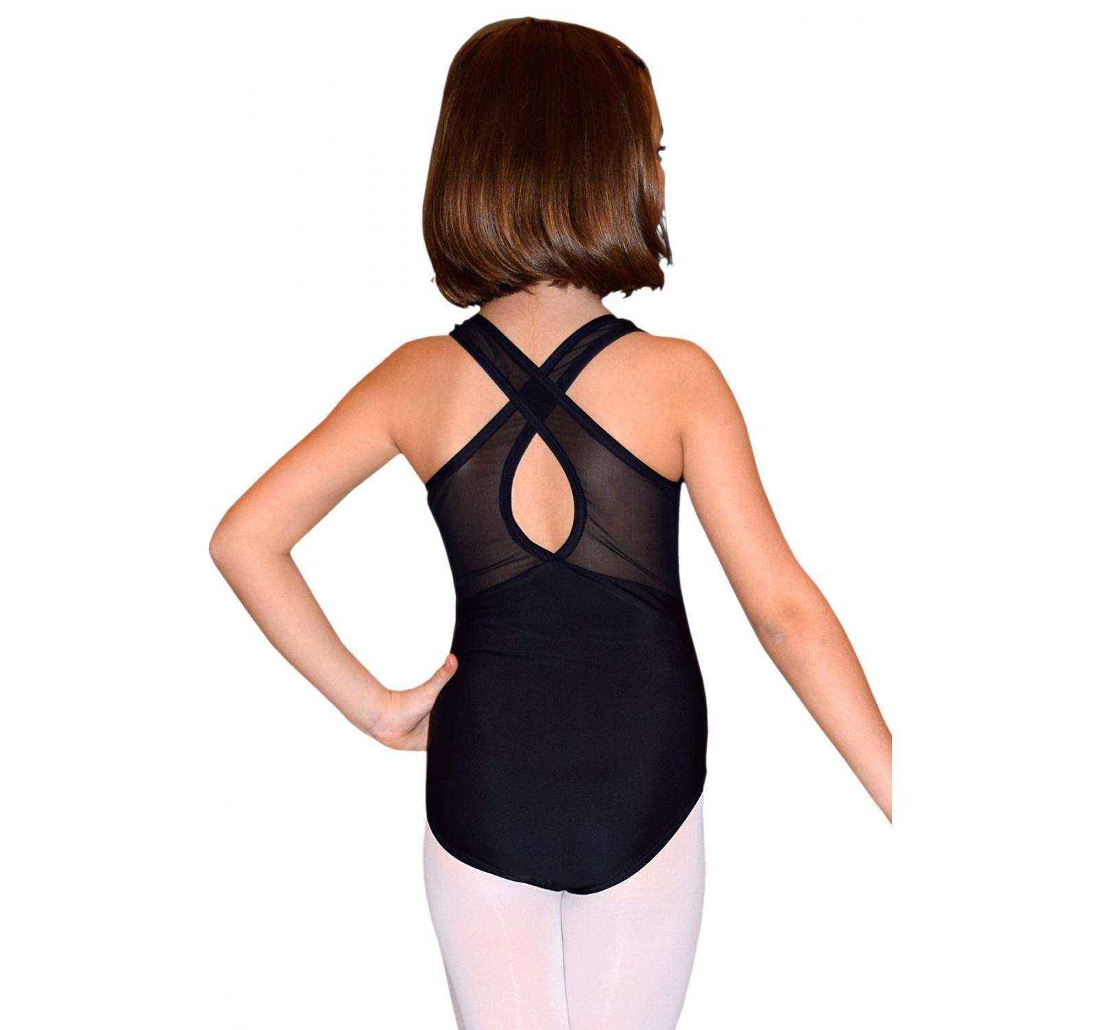 Body X gimnastica & dans Negru Spandex 16703